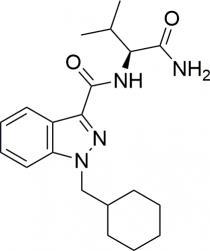 Strukturformel von AB-CHMINACA