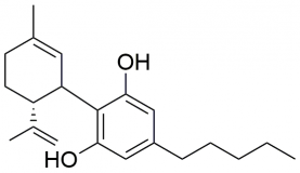 Strukturformel von Cannabidiol