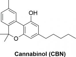 Strukturformel von Cannabinol