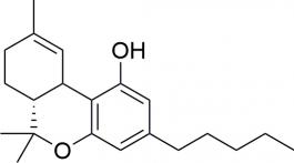 Strukturformel von THC