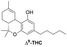 Strukturformel von Tetrahydrocannabinol