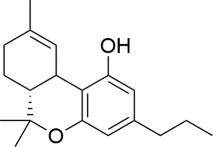 Strukturformel von THCV