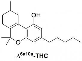 Strukturformel von delta6a10a-Tetrahydrocannabinol
