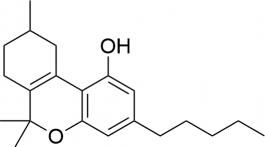 Strukturformel von delta6a10a-THC